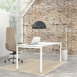 NOVA Schreibtisch im edlen weiß massiv 160 x 80 cm Bürotisch Computertisch