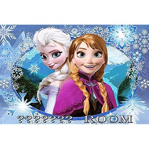 Frozen–Placa para puerta de habitación personalizada, 150x 100mm aprox.–ideal como regalo