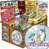 Für Dich (mit Einhorn) | Schokoladen Paket | Geschenkset | Für Dich (mit Einhorn) | Schokolade Korb | Geschenke Mädchen | mit Zetti, Viba, Halloren und mehr