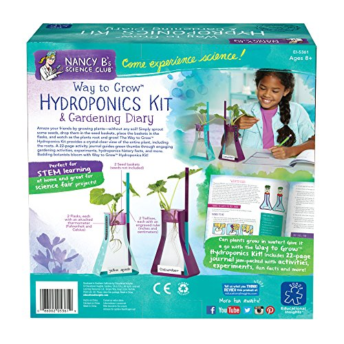 Learning Resources Nancy B s Science Club Way to Grow Hydroponics Kit and Gardening Journal