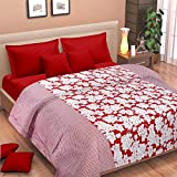 Cortina Cotton AC Double Dohar, Red