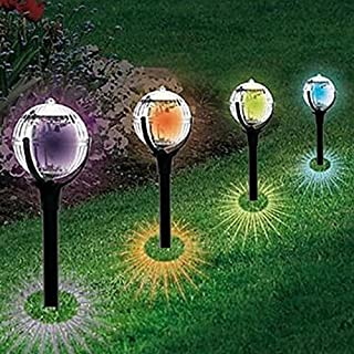 Anglewolf 2 Pcs Garden Pathway Safe Wireless Lights for Outdoor Solar Landscape Path Yard Colorful Light (Length: 42.5cm)