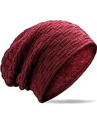 40e3a4dc2da21 MUCO Gorros Hombre Mujer Unisex Invierno Cálido Sombreros de Punto Forro  Polar Beanie Gorro