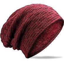 MUCO Gorros Hombre Mujer Unisex Invierno Cálido Sombreros de Punto Forro  Polar Beanie Gorro cd643e53d78