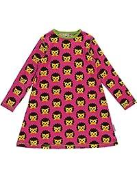 maxomorra Mädchen Kleid pink mit Igel Hedgehog