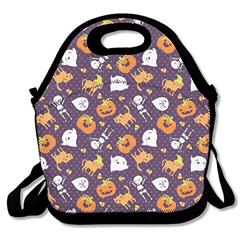 (Girls Boys Food Lunch Tote Silly Halloween Frightful Friends Waterproof Adults Kids Toddler Nurses With Picnic School Work Portable Reusable Handbag Bags Boxes Lunchbox Outdoor Totes)