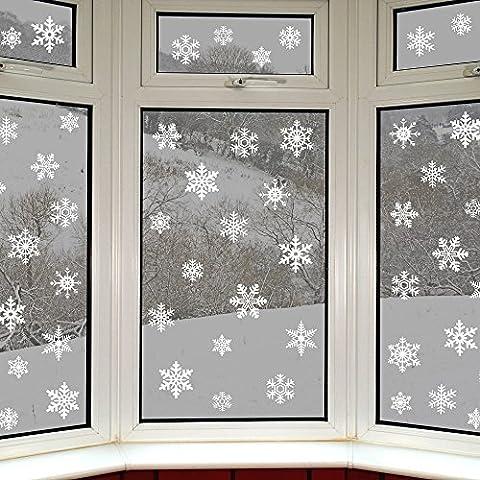 42 copos de nieve originales adhesivos estáticos para ventanas por Articlings – fabulosos stickers estáticos de PVC