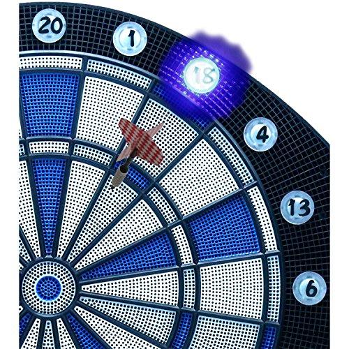 Best Sporting elektronische Dartscheibe CAMBRIDGE mit LED beleuchteten Ziffern, Dartautomat mit 6 Dartpfeilen, Dartboard mit Netzteil - 4