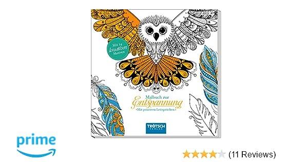 Malbuch zur Entspannung: Mit 24 kreativen Tiermotiven: Amazon.de ...