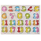 Numeri Peg Puzzle in Legno - Educativo Giocattolo Prescolare I Bambini Giocattolo