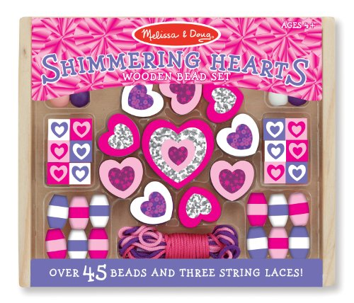melissa-doug-shimmering-hearts-wooden-bead-set-45-beads-and-3-laces-for-jewelry-making