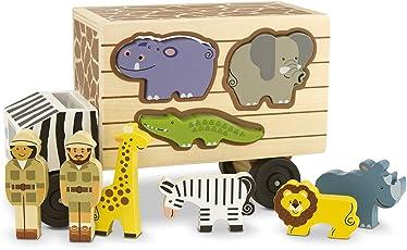 Melissa & Doug Animal Rescue Shape-Sorting Truck: Animal Rescue Shape-Sorting Truck,Multicolor