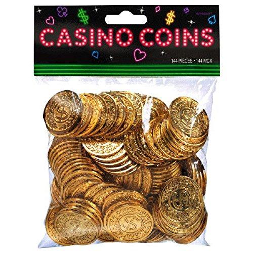 amscan 144-Casino-Münzen (Gold) -