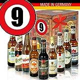 Bier Geschenk Box - DDR Bierbox - Zahl 9 - Geburtstag Mutti
