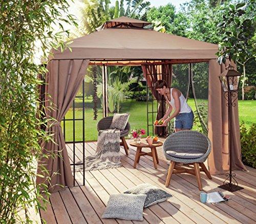 Ersatz-Dachplanen-Set für Pavillon Gala, 100% Polyester mit PU-Beschichtung, Braun Ersatz-set