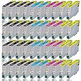 40 Druckerpatronen für EPSON WorkForce WF2010W WF2500 WF2510WF WF2520NF WF2530WF WF2540NF WF2540WF WF2630WF WF2650DWF WF2660DWF, kompatibel zu T1636 T1631 T1632 T1633 T1634