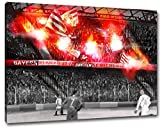 Ultras München Pyro, Bild auf Leinwand XL , fertig gerahmt, 80 x 60 cm