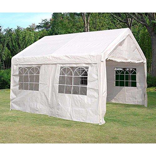 Pharao24 Party Gartenzelt in Weiß online kaufen Breite 400 cm Höhe 310 cm