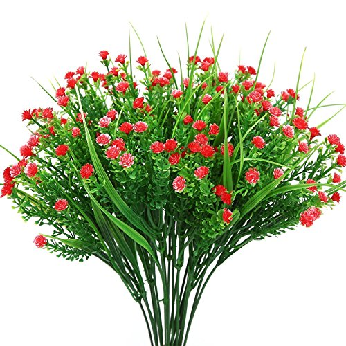 Amkun Künstliche Pflanzen, 4 stücke Faux Baby Atem Gefälschte Gypsophila Sträucher Simulation Grün Sträucher Hochzeit Mittelstücke Tabelle Blumenarrangement Bouquet