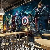 3d Captain America Avengers Garçons Chambre Photo Fonds D'écran Marvel Comics Kids Chambre Design Intérieur Chambre Décoration Spiderma N Murale Width 200cm *Height 140cm