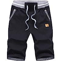 ZOXOZ Mens Summer Casual Shorts with Drawstring Elastic Waist Pockets