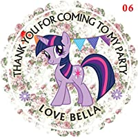 "Personalised My Little Pony Twilight Sparkle 50mm 2"" Party Stickers thank you labels,thank you for coming to my party labels DS1 (15)"