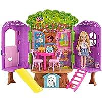 Barbie Coffret Cabane dans les Arbres Poupée Chelsea et Son Chiot, FPF83