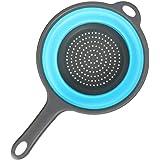 Keuken, opvouwbare siliconen zeefvergieten, inklapbaar vergiet met handgrepen, ruimtebesparend, vouwzeefvergiet voor het afta