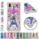LA-Otter Coque iPhone XR Liquide Paillette Silicone TPU Gel Bumper Bling Housse Etui...