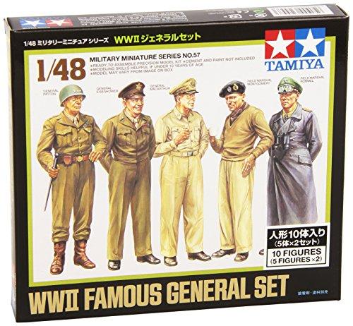 TAMIYA 300032557 - WWII Figuren-Set Feldherren(10), Militär-Bausatz 1:48