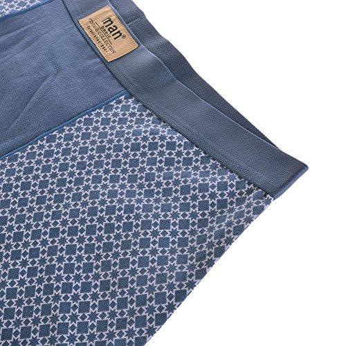 Liyang Herren Boxer Einekurze mit Einzelne Seite Sterne Muster Lycra Unterwäsche Atmungsaktive Strecke Hüfte Kurze Hosen 2016008 Sterne Fluss Blau