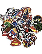 50 Pcs Laptop Stickers Super Heroes Stickers for Water Bottles,Vinyl Stickers for Laptop Skateboard Luggage Decal Graffiti Patches Stickers in Bulk,Computer Stickers