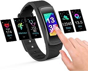 IceFox Fitness Armband, Smart Fitness Trackers Uhr, Wasserdicht IP67 Bluetooth Aktivitätstracker mit Pulsmesser,Herzfrequenzmonitor,Schlafmonitor,Schrittzähler
