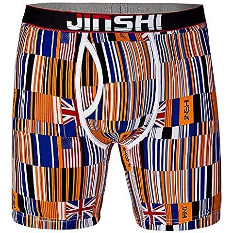 JINSHI Confortable Hommes Boxer d'hommes Longues Jambes Caleçon