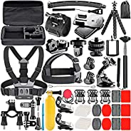 Neewer 53-In-1 Action Camera Accessory Kit Compatible with GoPro Hero 8 Max 7 6 5 4 Black GoPro 2018 Session F