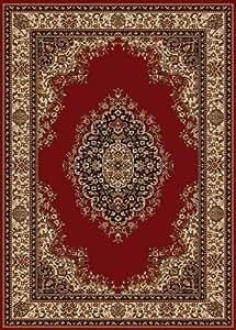 classiques beige tapis rouge 100x150 cm depuis le salon
