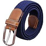 Irypulse Cintura intrecciata in tela treccia elastica di Uomo Donna Tessuto Cinghia di lega di cuoio PU elasticizzata per Cin