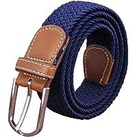 Irypulse Cintura intrecciata in tela treccia elastica di Uomo Donna Tessuto Cinghia di lega di cuoio PU elasticizzata…