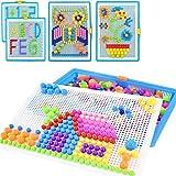 Steckspiel Pädagogisches Steckspielzeug Spielzeug für Kinder Lernspaß 295 Stücke Steckpuzzle Lernspielzeug für Junge Mädchen Kinderspiel Steckbrett DIY Kinderspielzeug für Geschenk Früherziehung