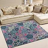 ingbags Super Weich Moderner Paisley indischen Dark Blau Pink, ein Wohnzimmer Teppiche Teppich Schlafzimmer Teppich für Kinder Play massiv Home Decorator Boden Teppich und Teppiche 160x 121,9cm, multi, 63 x 48 Inch