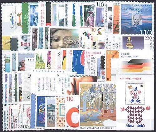 Goldhahn BRD Bund Jahrgang 2000 postfrisch ** MNH komplett Briefmarken für Sammler