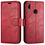 Case Collection Funda de Cuero para Huawei P Smart 2019 (6,21') Estilo Cartera con...