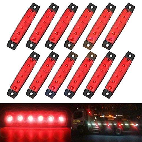 AMBOTHER de2hits13353 LED Blinker Seitenblinker Seitenmarkierungsleuchte 12V - Anhänger Led-marker