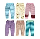 #6: Guchu 100% Hosiery Cotton Baby Pyjama for Baby Girl, set of 6