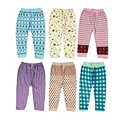 Guchu 100% Hosiery Cotton Baby Pyjama for Baby Boy, set of 6(F2-PJ-Bx6-55_Multi_55)
