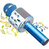 Phiraggit Microfono Karaoke Bluetooth, Wireless Microfono con Altoparlante, Bluetooth Karaoke Player, Portatile Karaoke…