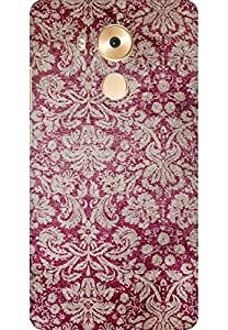 AMEZ designer printed 3d premium high quality back case cover for Huawei Mate 8 (Red victorian )