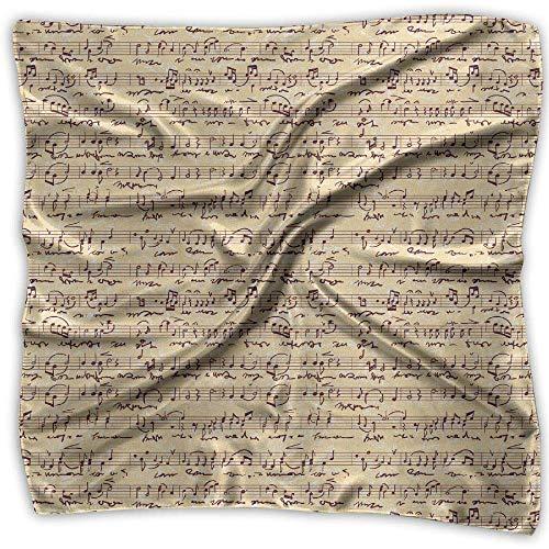 Firally Donne Stampa di Note Musicali Sciarpe Modello Chiffon Scialle Avvolgere Gli Involucri Sciarpa Scialle Stola Casual Foulard
