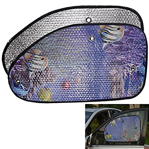 2pcs 60x 33cm voiture Side Window Reflective Aluminum Foil windshield Shade Sun Block