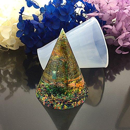 Amrka cono stampo in silicone per resina epossidica casting gioielli fai da te strumenti artigianali stampo 50mm Infradito colorati estivi, con finte perline